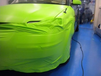 Front end during wrapping